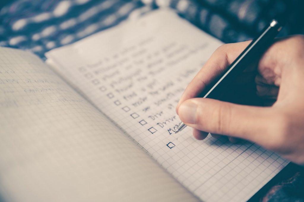 faire une checklist